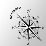 Notarized word written aside compass. Illustration of Notarized word written aside compass Royalty Free Stock Image