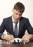 Notary. Lawyer, notary signs the documents from our office royalty free stock photos