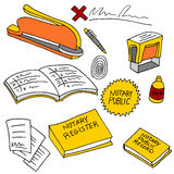 Notary Public Items Stock Photography