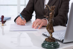 Signing contract royalty free stock photo