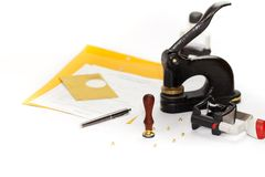 Notary Public supplies Stock Photography