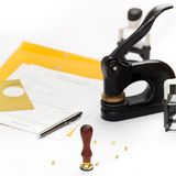 Notary Public supplies Stock Photos