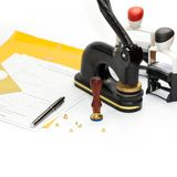 Notary Public supplies Stock Photo
