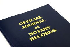 Notary Records Stock Photography