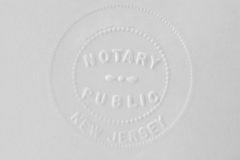 Notary stamp Stock Photography