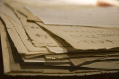 Notas Fotografía de archivo