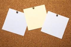 Notas Imágenes de archivo libres de regalías