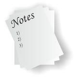 Notas Imagens de Stock