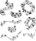 Notas abstratas da música Fotos de Stock