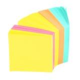 Notas adhesivas en blanco Fotografía de archivo libre de regalías