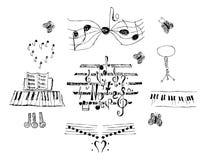 Notas ajustadas ilustração royalty free