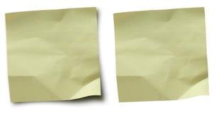 Notas amarelas Imagem de Stock