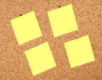 Notas amarelas da etiqueta Foto de Stock
