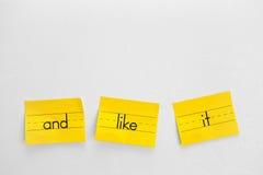 Notas amarillas Imagen de archivo libre de regalías