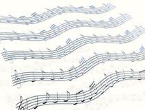 Notas & Stave da música do cromo Foto de Stock