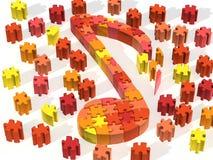 Notas anaranjadas del rompecabezas stock de ilustración
