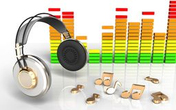 notas audio do espectro 3d Fotos de Stock Royalty Free