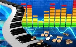 notas audio do espectro 3d Imagens de Stock