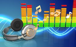 notas audio do espectro 3d Foto de Stock