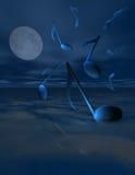 Notas azuis ilustração royalty free