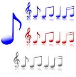 Notas brilhantes da música Imagem de Stock Royalty Free