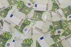 Notas cem Euros Imagem de Stock Royalty Free
