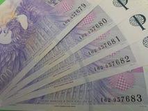 Notas checas da coroa, República Checa Foto de Stock