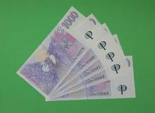 Notas checas da coroa, República Checa Fotos de Stock