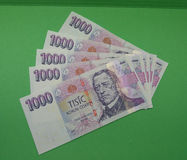 Notas checas da coroa, República Checa Imagem de Stock Royalty Free