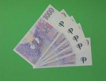 Notas checas de la corona, República Checa Fotos de archivo libres de regalías