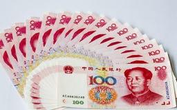 Notas chinas del dinero en circulación Fotografía de archivo libre de regalías