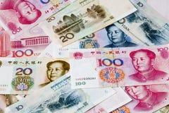 Notas chinas del dinero en circulación Fotos de archivo