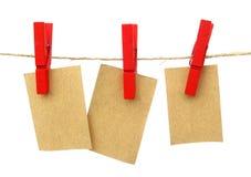 Notas colgantes de los mensajes Imagen de archivo