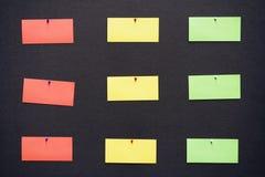 Notas coloridas Fotos de archivo libres de regalías
