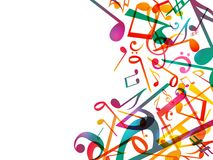 Notas coloridas da música Fundo do sumário da ilustração do vetor ilustração royalty free