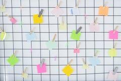 Notas coloridas vazias Fotos de Stock