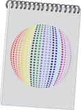 Notas com 3d a esfera 08 ilustração stock