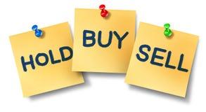 Notas compra-venda do escritório da preensão Fotografia de Stock