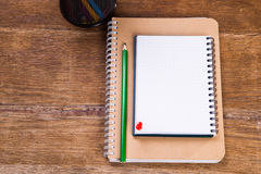 notas con el lápiz Fotografía de archivo libre de regalías