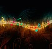 Notas creativas de la música ilustración del vector