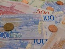 Notas da coroa sueca e moedas, Suécia Fotografia de Stock Royalty Free
