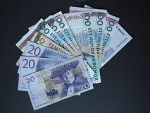 Notas da coroa sueca e da coroa norueguesa Foto de Stock Royalty Free