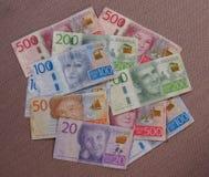 Notas da coroa sueca, Suécia Fotografia de Stock