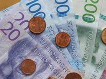 Notas da coroa sueca, Suécia Fotos de Stock