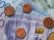 Notas da coroa sueca, Suécia Foto de Stock