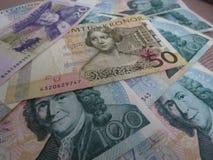 Notas da coroa sueca, Suécia Fotografia de Stock Royalty Free