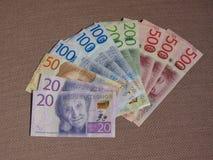 Notas da coroa sueca, Suécia Imagens de Stock Royalty Free