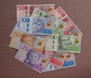 Notas da coroa sueca, Suécia Imagem de Stock Royalty Free