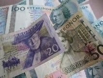 Notas da coroa sueca, Suécia Imagens de Stock