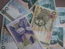 Notas da coroa sueca, Suécia Imagem de Stock